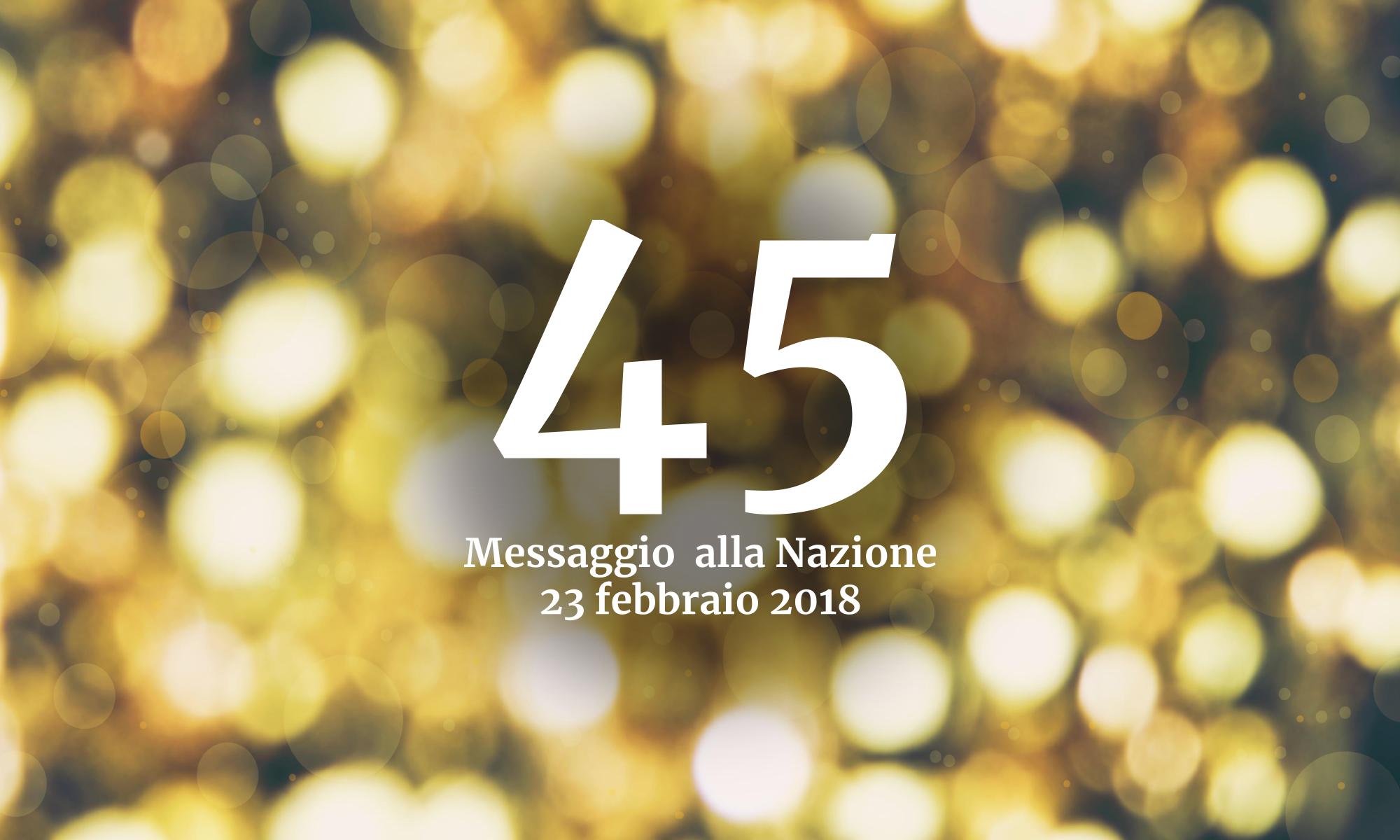 Messaggio alla Nazione 2018